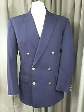 DAKS Simpson of Piccadily 100% Wool Double Breasted Squadron Blazer C38R