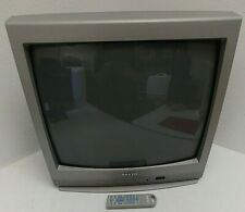 Sanyo DS 19204 20 Inch CRT TV A/V Inputs Retro Gaming Factory Remote