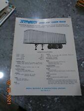 Brown Equipment & Manufacturing Model Avrt Tandeem Trailer