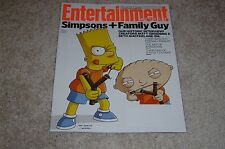 SIMPSONS + FAMILY GUY * BART * STEWIE GRIFFIN 2014 ENTERTAINMENT WEEKLY MAGAZINE