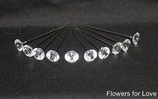 25 x 50mm diamantie bavero pin per bustino, pulsante FORI ETC