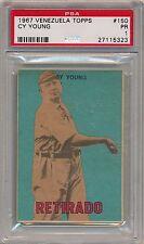 Cy Young 1967 VENEZUELA Topps #150 PSA 1