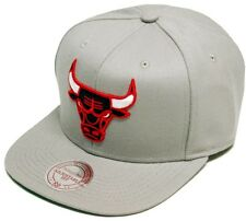 Mitchell & Ness Chicago Bulls Wool Solid Gris Casquette Snapback NZ979