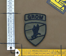 "Ricamata / Embroidered Patch ""Polish Grom Insigna"" OD with VELCRO® brand hook"