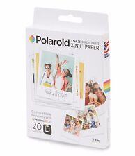 """Carta Polaroid Zink Paper 3.5x4.25"""" 20 fogli (POP) POLZL3X420"""