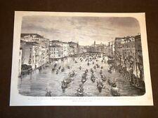 Imperatore Francesco Giuseppe a Venezia nel 1875 Ingresso per il Canal Grande