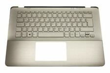 New Sony Vaio SVF14A15STS Palmrest Cover Backlit Turkish Keyboard