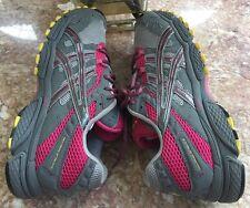Asics Gel Trail Attack 6 Women Gray Running Cross Training shoes size 10 T069N