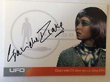 UFO AUTOGRAPH CARD Gabrielle Drake as Lt. Gay Ellis GD2