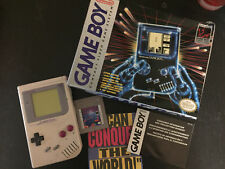 Original Nintendo Gameboy Gray console handheld system game boy in box CIB NES