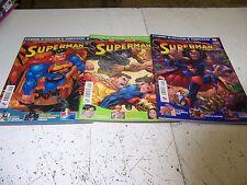 SUPERMAN MAGAZINE 1-2-3 SEQUENZA ED.PLAY PRESS OTTIMI AFFARE RARI!!!