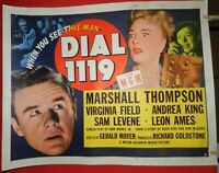 1 Vintage Half Sheet Movie Poster for Dial 1119, 1950, Marshall Thompson