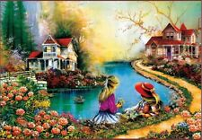 1000 Pieces Adult Puzzle Spring Flowers Little Girl Jigsaw Educational Toys Gift
