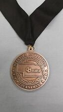 silver heavyweight maha soccer medal Nebraska Invitational Tournament black