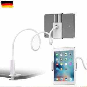 DE 360° Bett Halterung Halter Ständer für iPad 4 3 Air Samsung Tablet Tisch Weiß