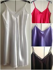 WOMENS SATIN CAMI NIGHTDRESS UK SIZES 8-22 VARIOUS COLOURS
