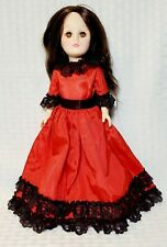 """Vintage Effanbee Spain Collector's 11"""" Doll with rooted hair and moving eyes 70s"""