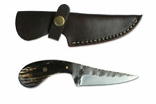 Mittelalter Messer 18,5 cm handgeschmiedet mit Lederscheide