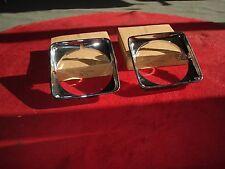 NOS 75-79 Buick Skylark Nova Apollo Omega Chevy Pair Chrome Headlight bezels