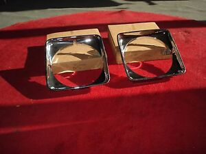 NOS 75-79 Buick Skylark  Apollo Omega Chevy Pair Chrome Headlight bezels