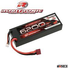 Batteria Lipo 2S 7.4 V ROBITRONIC 6200mah 40C Hard Case T-Plug 1/8 1/10 Rc New