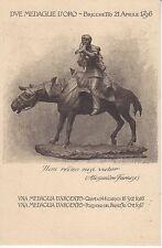 A462) WW1, GENOVA CAVALLERIA, MEDAGLIE AL V M A QUOTA 144 E POZZUOLO DEL FRIULI.