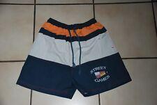 Short maillot Boardshort marine orange et beige T164cm ou 14ans Très Bon Etat!!