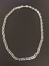 """Men's Sterling Silver Link Chain 22"""" In Length."""