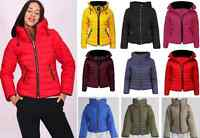 Celebrity Fashion Puffer Jacket Ladies Womens Quilted Padded Bubble Hood Coat