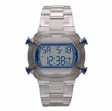 NEW-ADIDAS CANDY GREY PLASTIC STRAP+NAVY BLUE DIGITAL CHRONOGRAPH WATCH-ADH6509