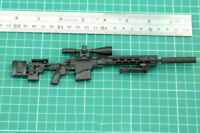 "1/6 Weapon Model Plastic Remington MSR Rifle Gun DIY Toy for 12"" Action Figure"