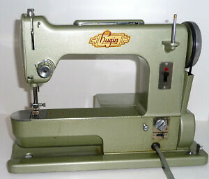 Antique FREE arm HUGIN sewing machine metal AC/DC RARE swedish Elna style vtg