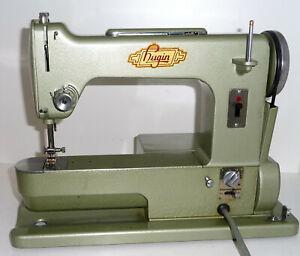 Antique FREE arm HUGIN sewing machine metal AC/DC RARE swedish Elna style vtg