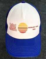 Vintage NOS 1982 Worlds Fair Cap With Price Tag Snap Mesh Back Truckers Hat TN A