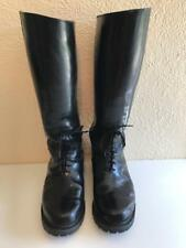 "Black Leather Police Motorcycle BOOTS ~ All American Boot ~ Size 11EE 19"" Tall"
