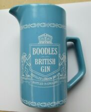 "Vintage Boodles British Gin Pitcher Wedgewood Blue 7"" London Dry Gin England"