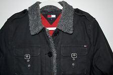 Tommy Jeans - Tommy Hilfiger - Women's Bomber Moto Jacket Blue Size Juniors XL
