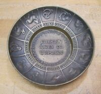 EBERLIN SALES Co Old Brass Ad Tray FURNITURE DRAPERIES CARPETING APPLIANCES