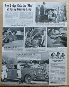 1941 magazine ad for Dodge - Hank Greenberg off to Spring Training, Luxury Liner