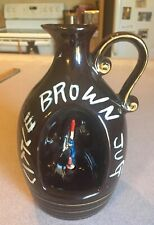 Vintage Little Brown Jug Music Box Decanter with Revolving Figure