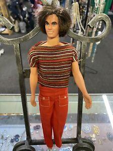 Ken Doll Vintage Long Brown Hair T shirt Bell Bottoms 1974-1976 Hong Kong 1968