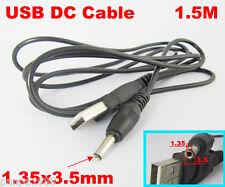 1pc 5FT/1.5M 5V DC Power Cable USB 2.0 A Male Plug to 1.35 x 3.5mm DC Plug
