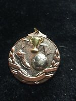 Bronze And Silver Tone Football Medal