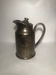 Reed & Barton Silver Soldered Insulated Water Pitcher-Peninsula Hospital Vintage