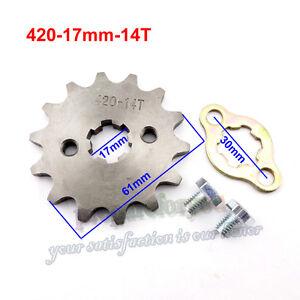 420 14 Tooth 17mm Front Engine Sprocket For ATV Pit Dirt Bike 50 70 90 110 125cc