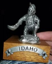 Pewter Idaho Gold Panning Figurine Collectible Statue