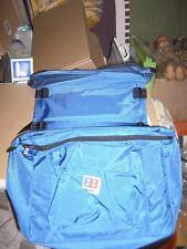 Fahrrad Gepäckträger-Satteltaschen Kunststoffgewebe blau neu