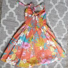 Maurices Orange hawaiian flower dress small