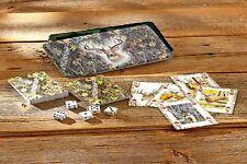 Camo Deer Tin with 2 Decks of Cards (Camo & Deer) and 5 Dice Sealed Cards - NEW
