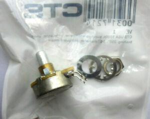 CTS-Poti 10mm Potentiometer 1 MOhm short solid shaft, A log.